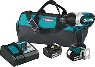 Makita XWT07M LXT Lithium-Ion Brushless Cordless High Torque Square Drive Impact Wrench with Friction Ring Anvil Kit, 18V/3/4