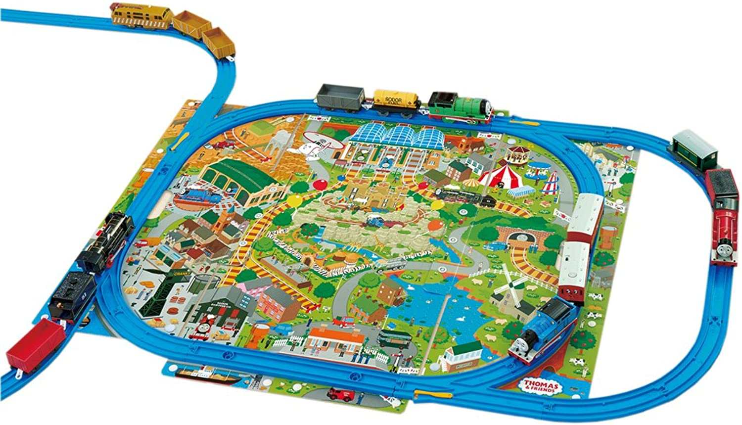 Plarail Hakodate in the reply  Thomas the Tank Engine you clean up play map