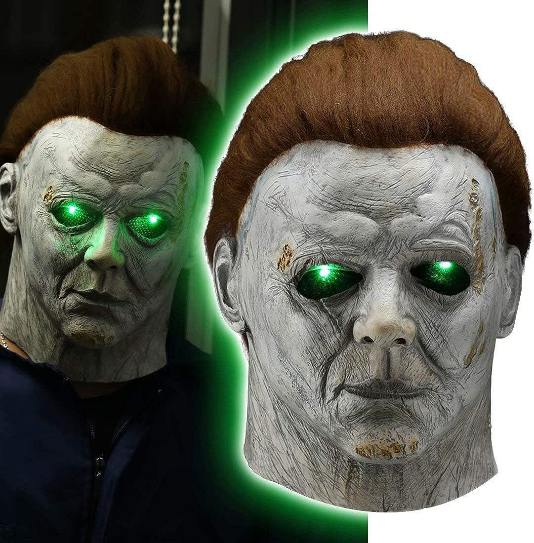 LED Light Up Michael Myers Popular Max 83% OFF standard Creepy Killer Mask Murderer Halloween