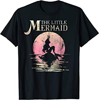 The Little Mermaid Ariel Rock Moon Silhouette T-Shirt
