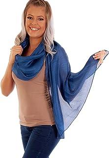 DOLCE ABBRACCIO by RiemTEX Schal Damen PRIMA DONNA Stola Tuch aus Wildseide Tücher in 31 Unifarben Halstücher Seidentuch Schals Damen Halstuch Seidenschal