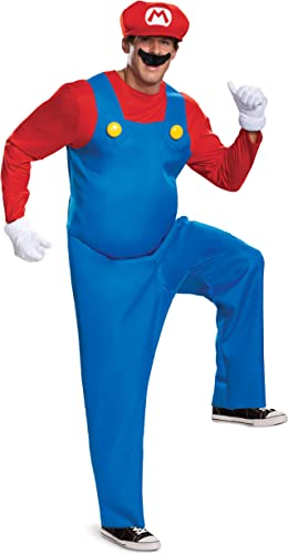 Disguise The Super Mario Brothers Mens Mario Deluxe Fancy Dress Costume X-Large