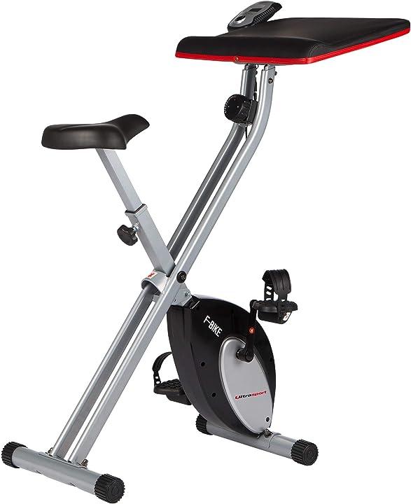 Cyclette pieghevole con display ultrasport f-bike advanced,  lcd, livelli di resistenza regolabili 331400000232