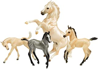 Breyer Traditional Series Cloud's Legend | 4 Horse Set | Horse Toy Model | 1:9 Scale | Model #1808,White, Gray, Black, White