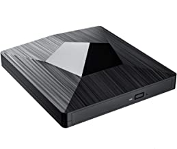 Blu Ray Drive, TOPELEK 4K CD/DVD/BD Burner/Writer with USB3.0 and Type-C, 3D 6X Blu-Ray Disc Playback, Trendy Design & Super-Fast Transmission for Windows, Mac OS Laptop, PC, Computer