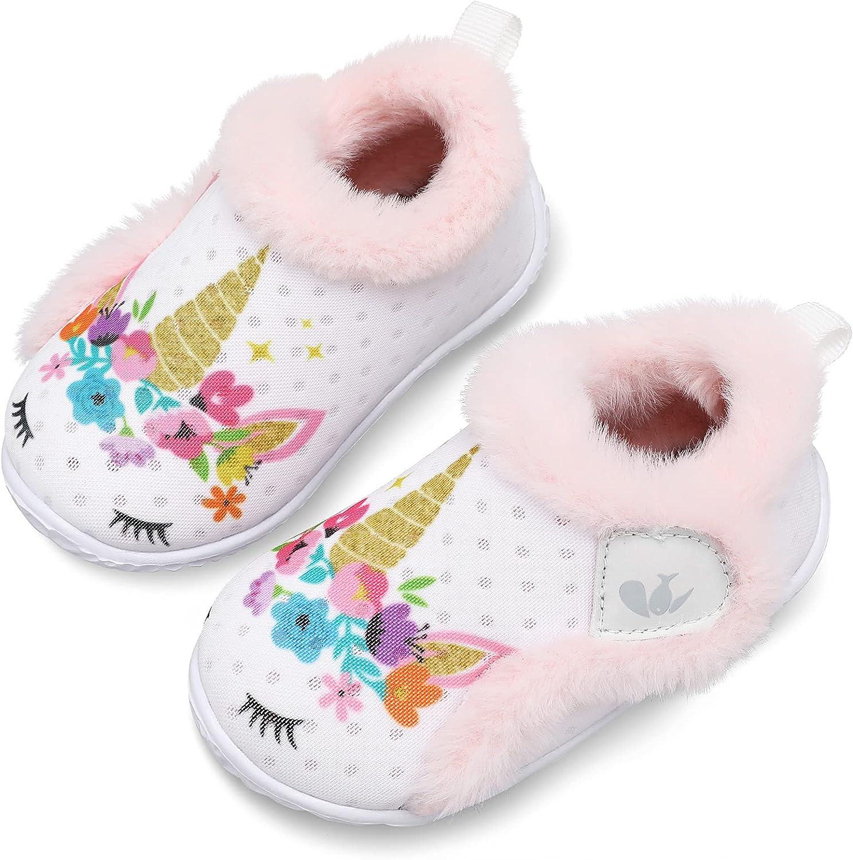 Low price JIASUQI Kids Girls Boys Limited time sale Winter Warm Cozy House Slippers Plush Sh