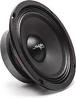 مكبر صوت بموجات متوسطة الحجم من Skar Audio FSX65-4 6.5 بوصة 300 وات 4 أوم برو مكبر صوت بموجات متوسطة