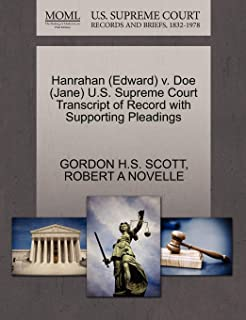 Hanrahan (Edward) V. Doe (Jane) U.S. Supreme Court Transcript of Record with Supporting Pleadings