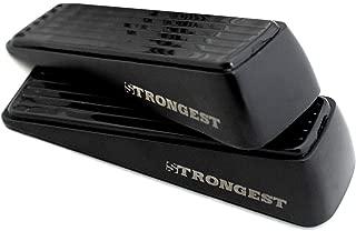 Strongest Door Stopper, Heavy Duty Door Stop Wedge Made of Premium Quality Zinc and Rubber Suits Any Door,Any Floor. Set of 2 Plus Bonus Self Adhesive Wall Protectors (Black)