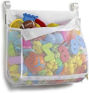 سازنده اسباب بازی حمام Tenrai Mesh ، کیسه نگهداری وان بزرگ ، 1 پوندی ، شبکه اسباب بازی های چند منظوره ، دوش کودک نوپا برای حمام ، نگهدارنده اسباب بازی کودکان و نوجوانان ، خشک شدن سریع