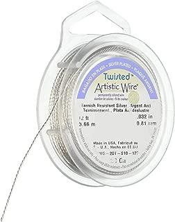 Artistic Wire 20S Gauge Twist, Round, Tarnish Resistant Silver, 12-Feet