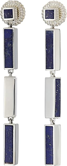 Cass Inlay Chandelier Earrings