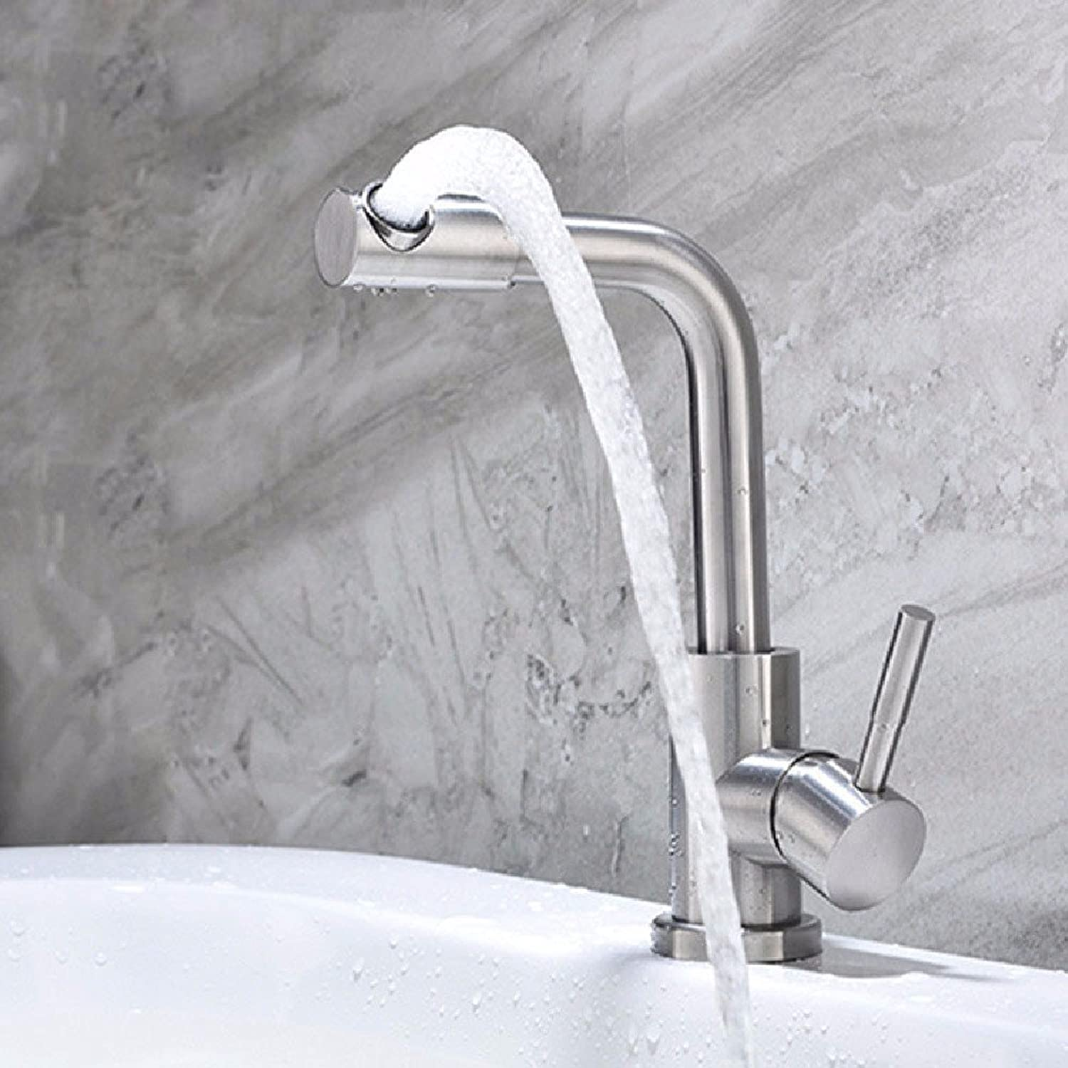 HQLCX Basin Sink Mixer Tap 304 Stainless Steel Hot Hot Basin Faucet