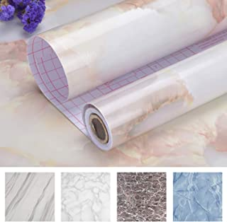 "Art3d Self-Adhesive Contact Paper Countertops (200""x17.7"", Marble 1, Shiny)"