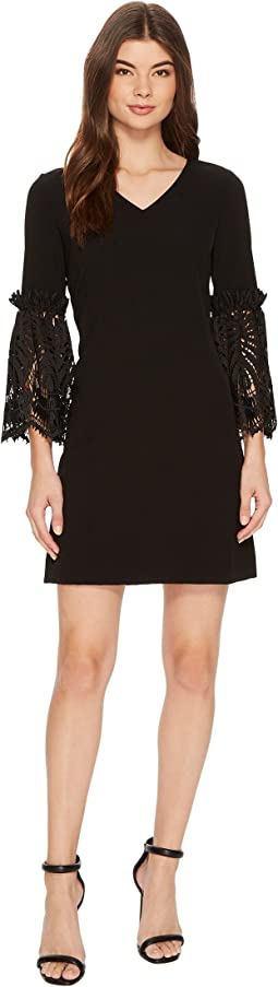 Tahari by ASL Lace Bell Sleeve Shift