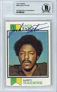 Jack Tatum Autographed 1973 Topps Rookie Card #288 Oakland Raiders Beckett BAS #10982287 - Beckett Authentication