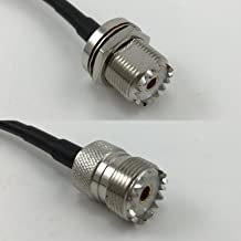 30cm RG316 UHF Female BULKHEAD to SO239 UHF Female Pigtail Jumper RF coaxial cable 50ohm 12inch High Quality Quick USA Shipping