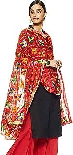 Women's Indian Handicraft Ethnic Dupatta Phulkari Embroided Dupatta Chunni/Stole/Scarf