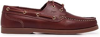 Castellanisimos Zapatos Náuticos de Verano Piel Hombre Comodos Cordones Marrón