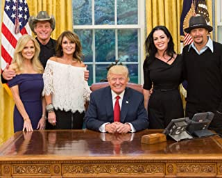 President Donald Trump With Guests Ted Nugent Kid Rock Sarah Palin Photo White House Photos Artwork 8x12