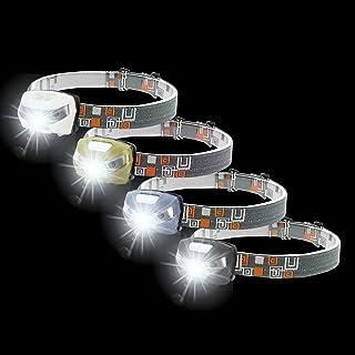 Sponsored Ad – RENUS USB Rechargeable Sensor Head Torch 4 Pack Waterproof White+Red Light Headlamp,280 Lumens,70g Weight,C...
