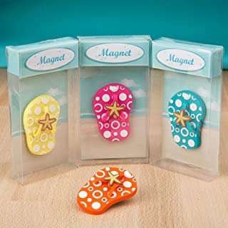 Flip Flop Magnets Decorations for Beach Home Decor - Set of 4