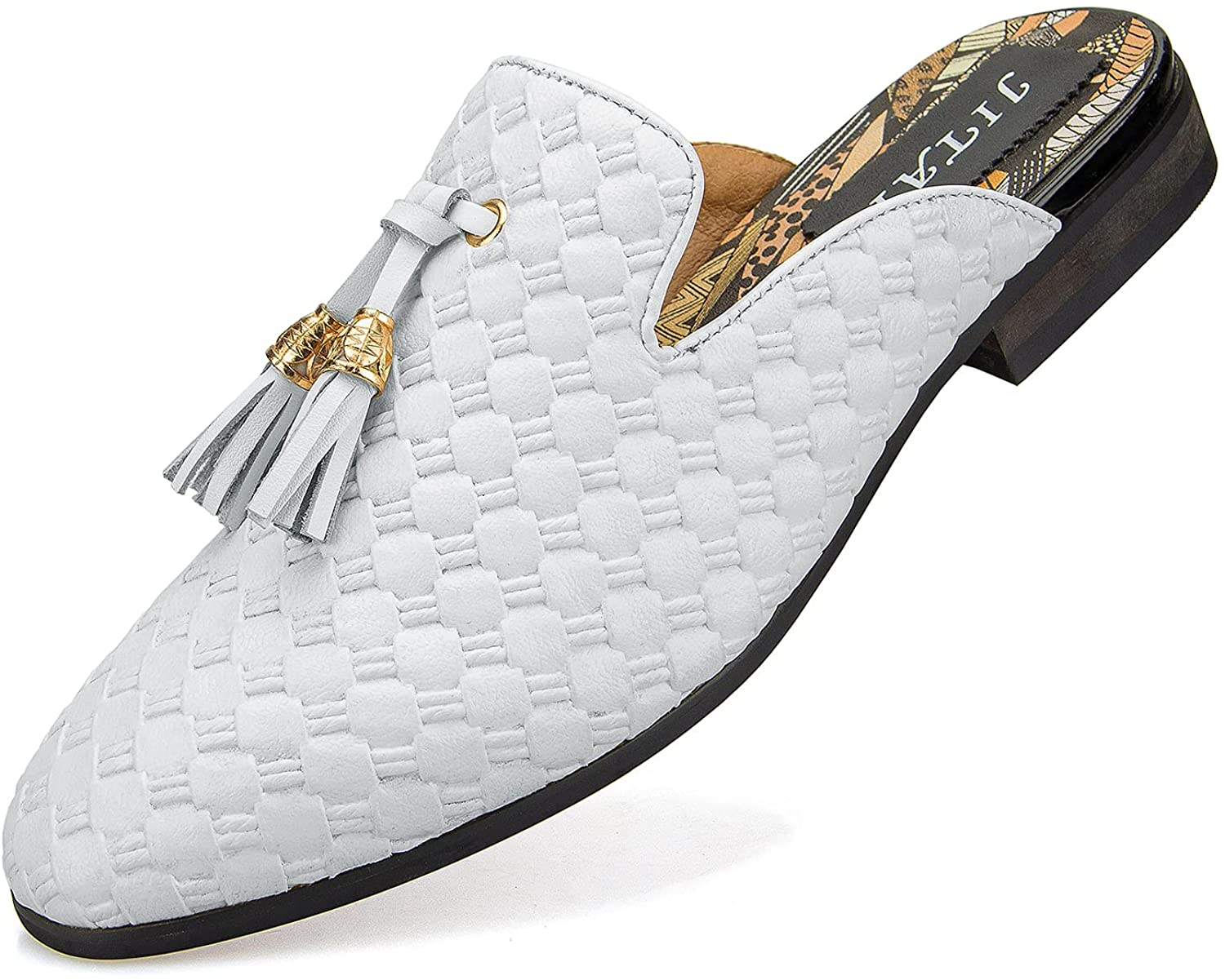JITAI Mens Mules Slippers Easy-to-use Slip-On Casual Loafers Oklahoma City Mall Half Loafe