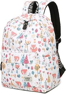School Backpack for Girls Boys Cute Fox Waterproof Laptop Bag Leisure College Student Bookbag Women Travel Daypack