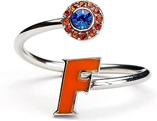 Stone Armory University of Florida Ring | Florida Gators Ring - Orange Block F with Crystal | Officially Licensed University of Florida Jewelry | UFL Gators | University of Florida Gifts