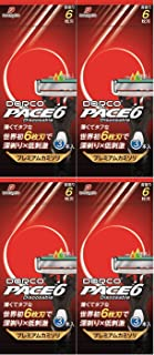 【まとめ買い】DORCO ドルコ PACE6 男性用使い捨てカミソリ6枚刃 3本入×4個