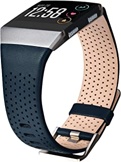 CAGOS Compatible Ionic Band Breathable Genuine Leather Band Strap Replacement Accessories Wristband for Fitbit Ionic Women Men Small(5.5''-6.7'') CA-FIDKL