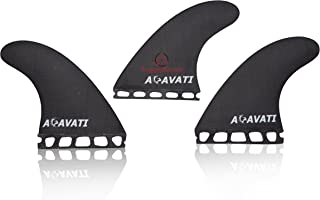 Acavati – Surfboard Fin Set. Black or White Color Surfboard Fin Set – 3 Piece Surf Fin Set– Heavy Duty Construction – FCS or Future Fin Set