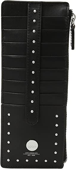 Lodis Accessories Pismo Stud RFID Credit Card Case with Zipper Pocket