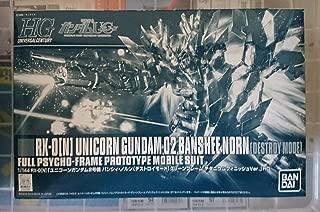 HGUC 1/144 Unicorn Gundam Unit 2 Banshi~i-Norns [Destroy Mode] Green frame titanium Finish Ver. Chara Hobby 2014 event limited by Bandai