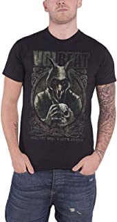 Volbeat T Shirt Goat with Skull Band Logo Official Mens Black