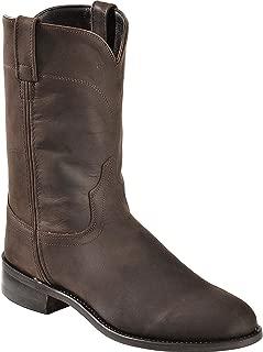 Old West Men's Leather Roper Cowboy Boot