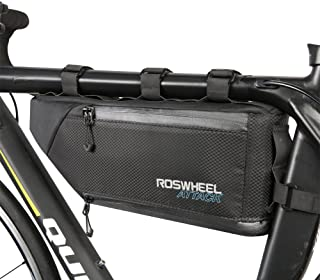 3b1c89ece07 ROSWHEEL 4L gran capacidad bicicleta MTB impermeable triángulo delantero  Bolsa