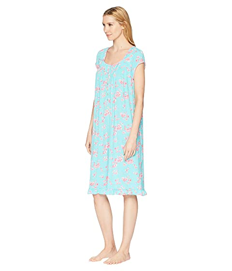 Authentic Eileen West Modal Floral Cherry Blossoms Print Waltz Nightgown Dark Aqua Ground/Cherry Blossoms Cheap Sale From UK Buy Cheap Comfortable UYY0P3KJ5A
