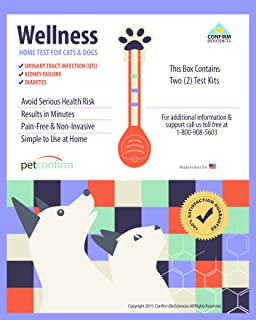 PetConfirm - Dog & Cat General Wellness Instant Home Testing Kit - Two Tests Per Kit For Urinary Tract Infections (UTI), Kidney Failure and Diabetes With Urine Sample
