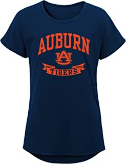 NCAA Auburn Tigers Girls Outerstuff Short Sleeve Dolman Tee, Team color , Youth X-Large (16-18)