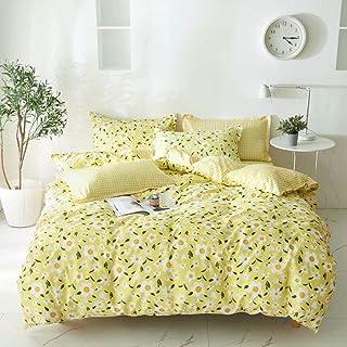 Olive-single size Bedsheet 4pcs One Set High Cotton Quality Bedding Set Duvet Cover (khaki)