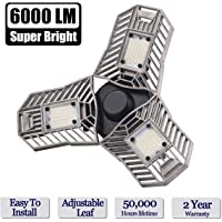 Lead-Go 60W E26/E27 6000LM LED Light Bulbs for Workshop, barn, Warehouse