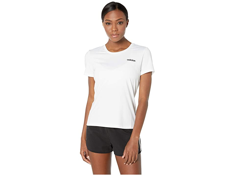 adidas Designed-2-Move Solid Tee (White) Women's T Shirt