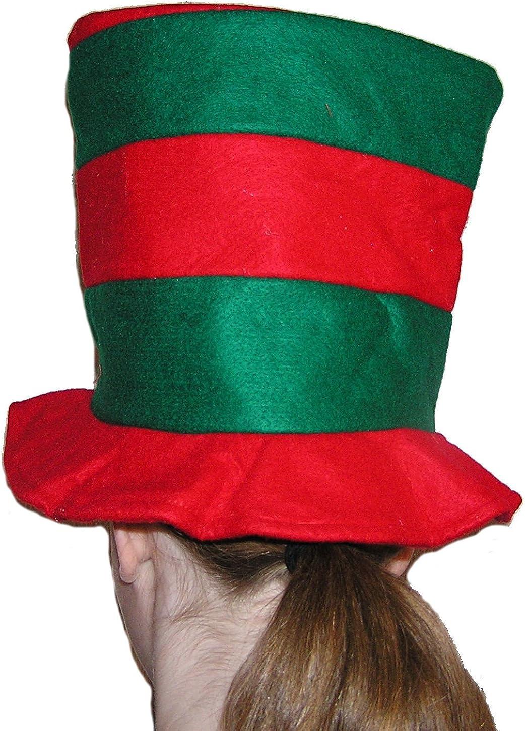 Festive Holiday Red Green Super-cheap Hat Striped Philadelphia Mall Felt