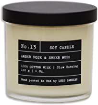 Amber, Rose & Sheer Musk II   Luxury Scented Soy Jar Candle   Hand Poured in The USA   Highly Scented & Long Lasting   Small - 6 Oz.