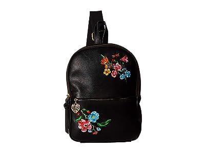 Betsey Johnson Sling Shot Backpack (Black) Backpack Bags