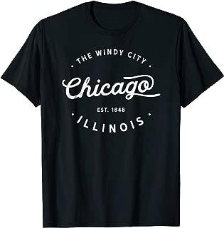 Classic Retro Vintage Chicago Illinois Windy City Tshirt