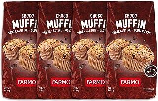 FARMO – Choco Muffin – Multipack da 200g con 4 Muffin monoporzione – Senza Glutine (4 Multipack, 16 Muffin)
