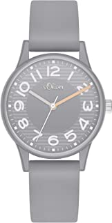 s.Oliver Damen Analog Quarz Uhr mit Silikon Armband