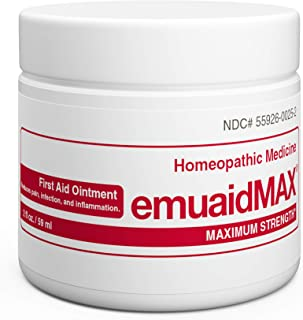 Best EmuaidMAX® Ointment - Antifungal, Eczema Cream. Maximum Strength Treatment. Use Max Strength for Athletes Foot, Psoriasis, Jock Itch, Anti Itch, Ringworm, Rash, Shingles and Skin Yeast Infection. Review